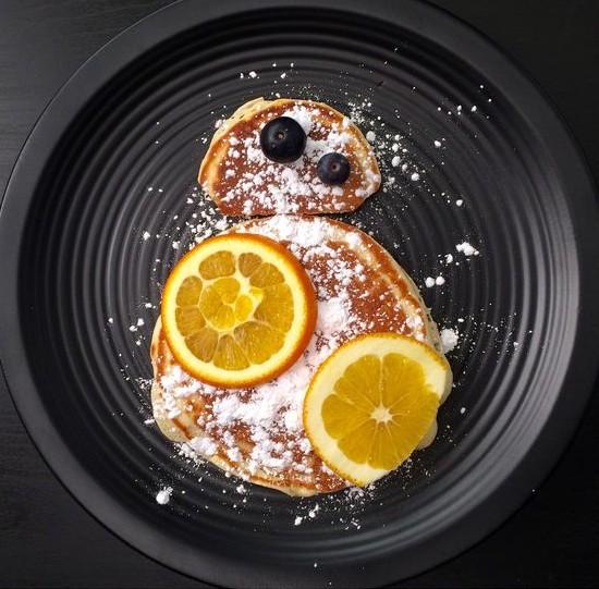 geeky star wars BB-8 pancakes