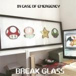 geeky super mario In case of an emergency break glass