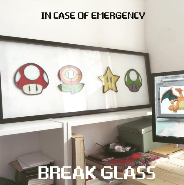 geeky super mario In case of an emergency break glass