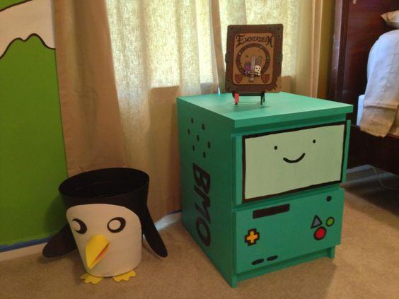 ikea geeky hack Adventure Time BMO Nightstand