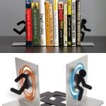 nerd geek funny Portal Bookends