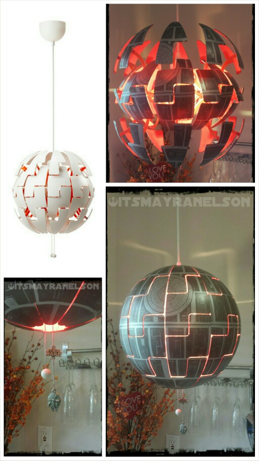 star wasr ikea hack for geeks Death Star Lamp