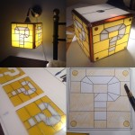 super mario stained glass question block lamp