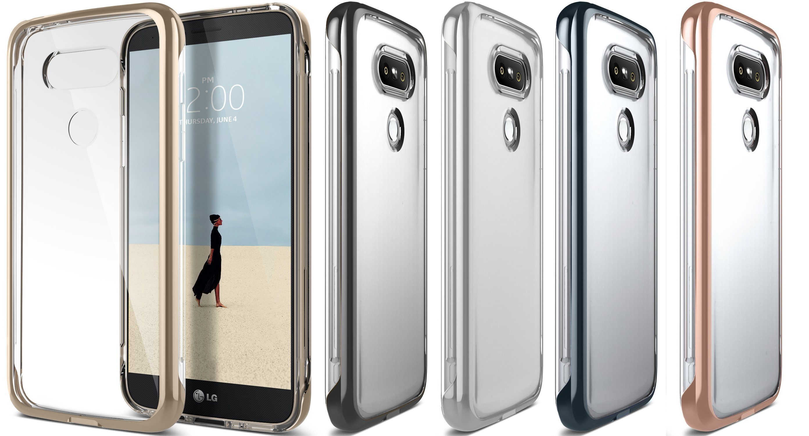 2016 LG G5 Case Scratch-Resistant Clear back Cover