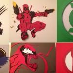 COMIC MARVEL PAPER CUTS ART