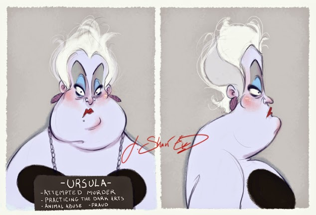 Disney Villain Mugshots 1