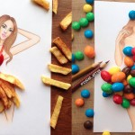 Fashion Artist Illustres Dresses Out of Food