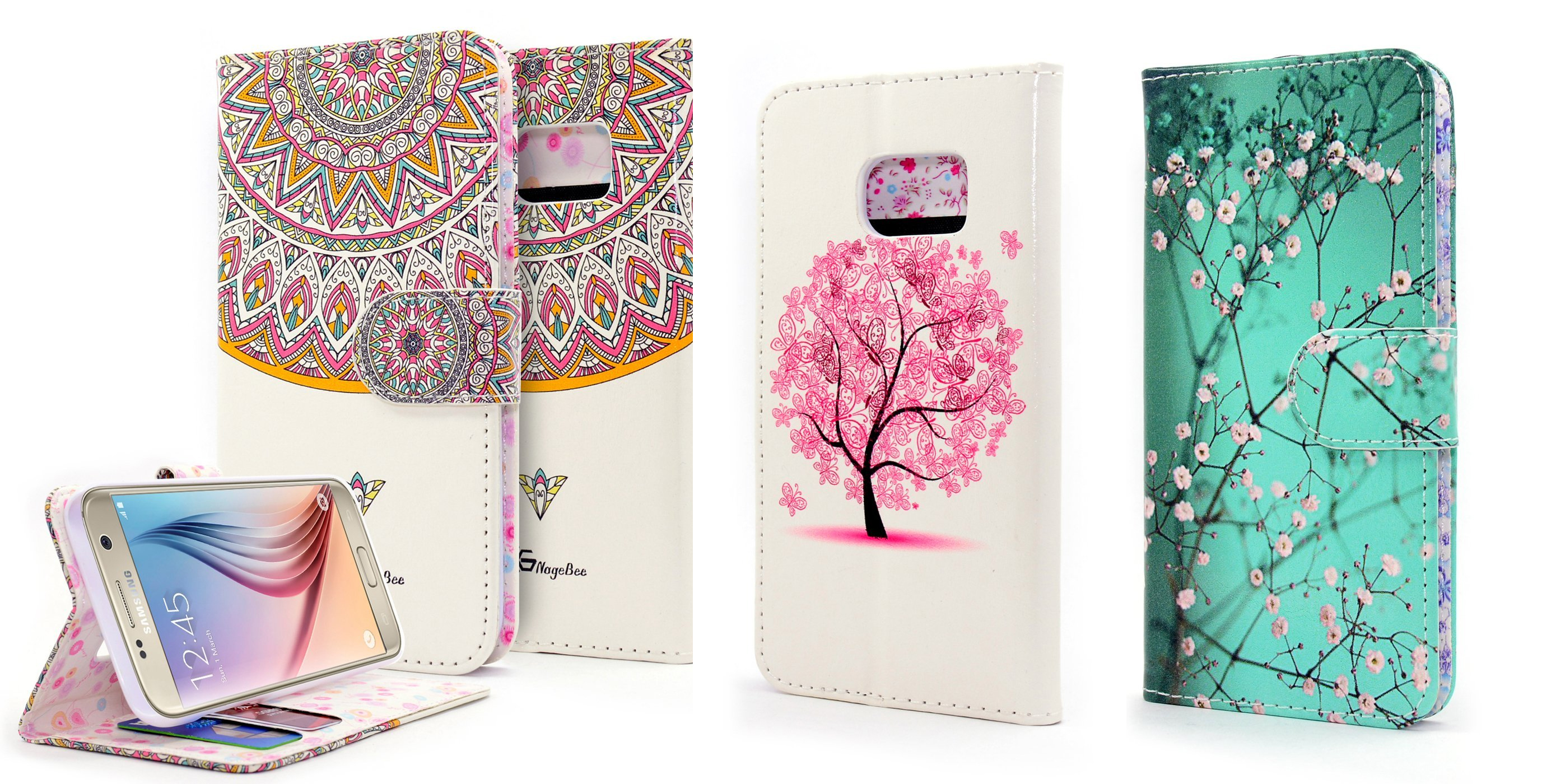 Galaxy S7 Case Galaxy Premium Leather Wallet Flip Case