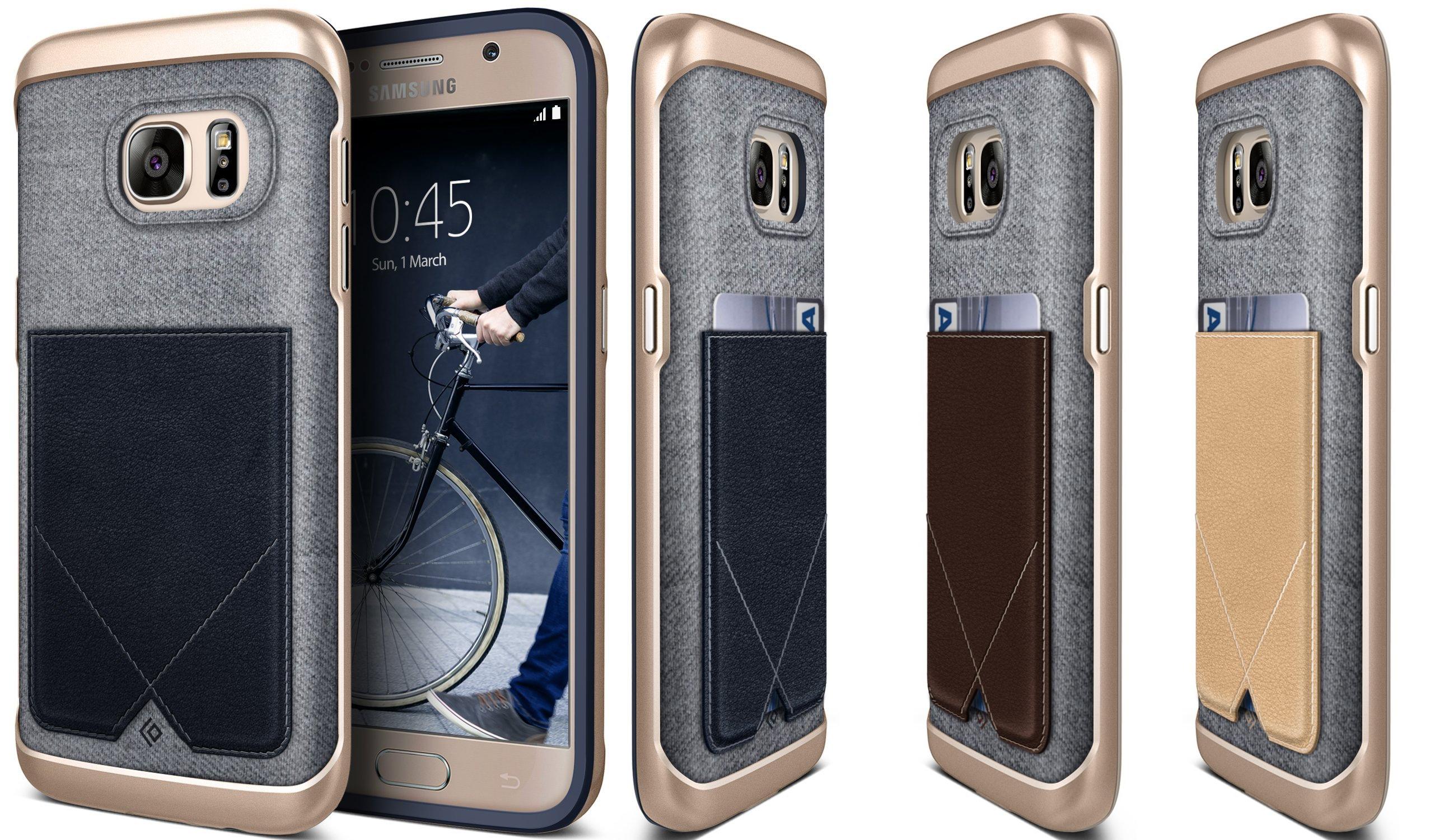 Galaxy S7 Case Genuine Leather Pocket