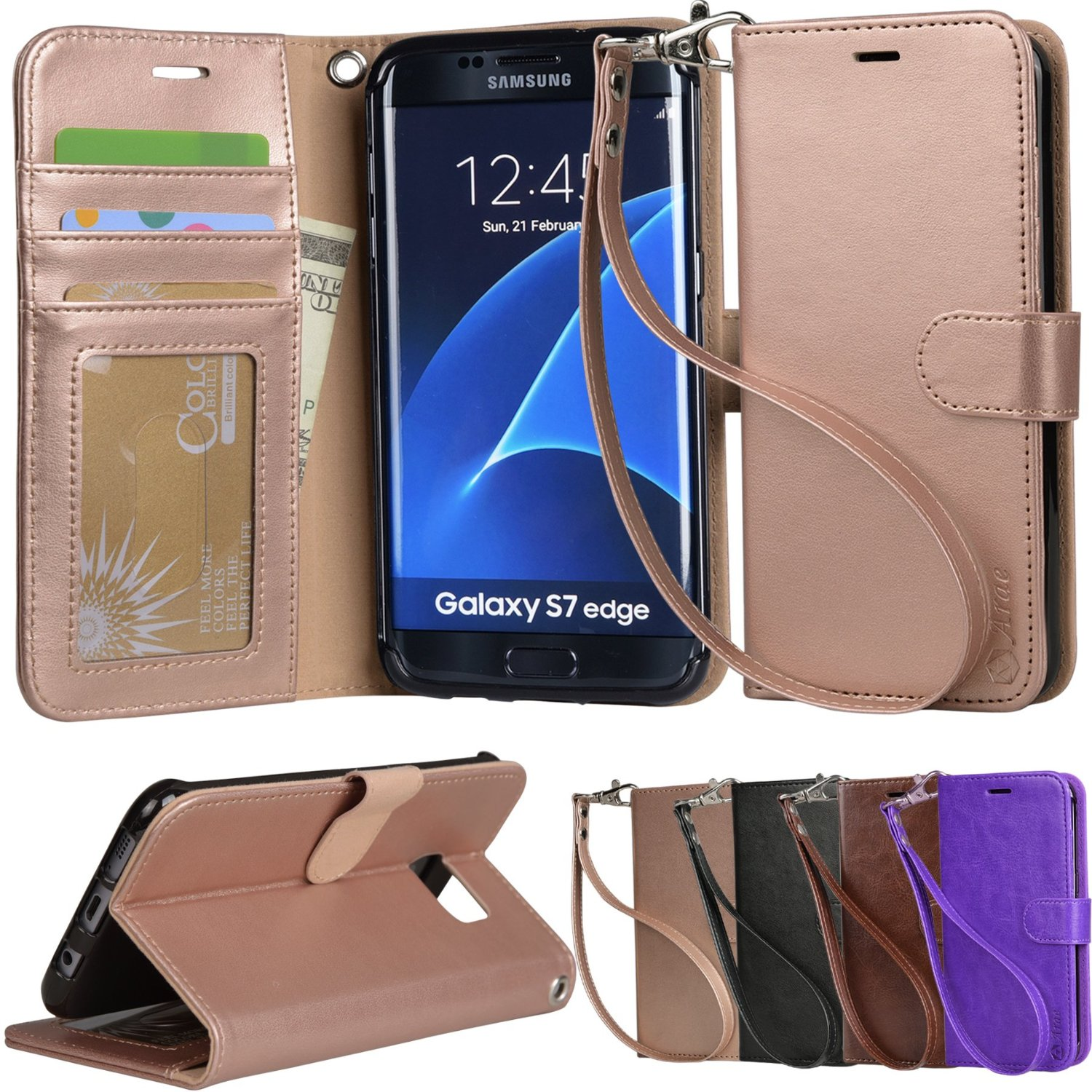 Galaxy s7 edge Case PU leather wallet case