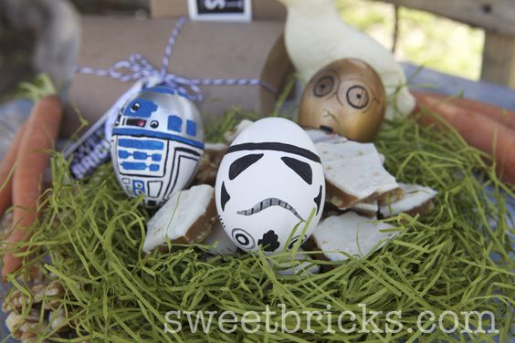 Hand painted Star Wars easter eggs