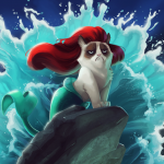 If Grumpy Cat Was The Star in Disney Movies 6