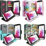 LG G5 Case Hybrid Leather Credit Card Wallet Flip Book Style