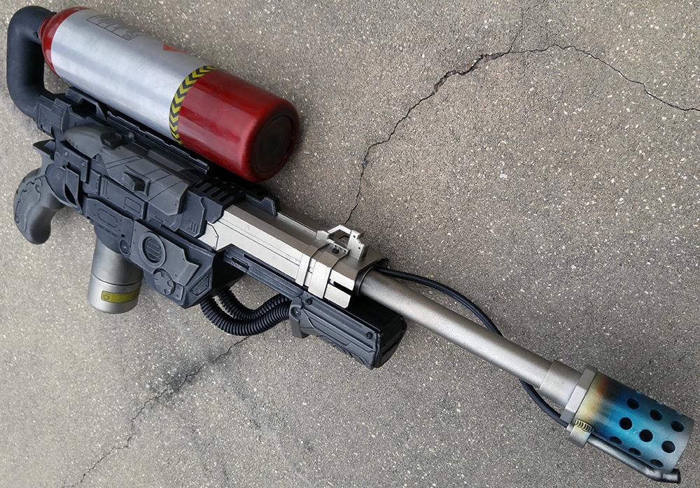 Nerf Praxis Sci-fi Aliens Flamethrower flame gun mode