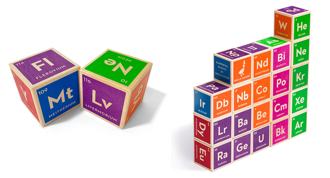 Periodic table building blocks for geeky kids walyou periodic table building blocks for geeky babies urtaz