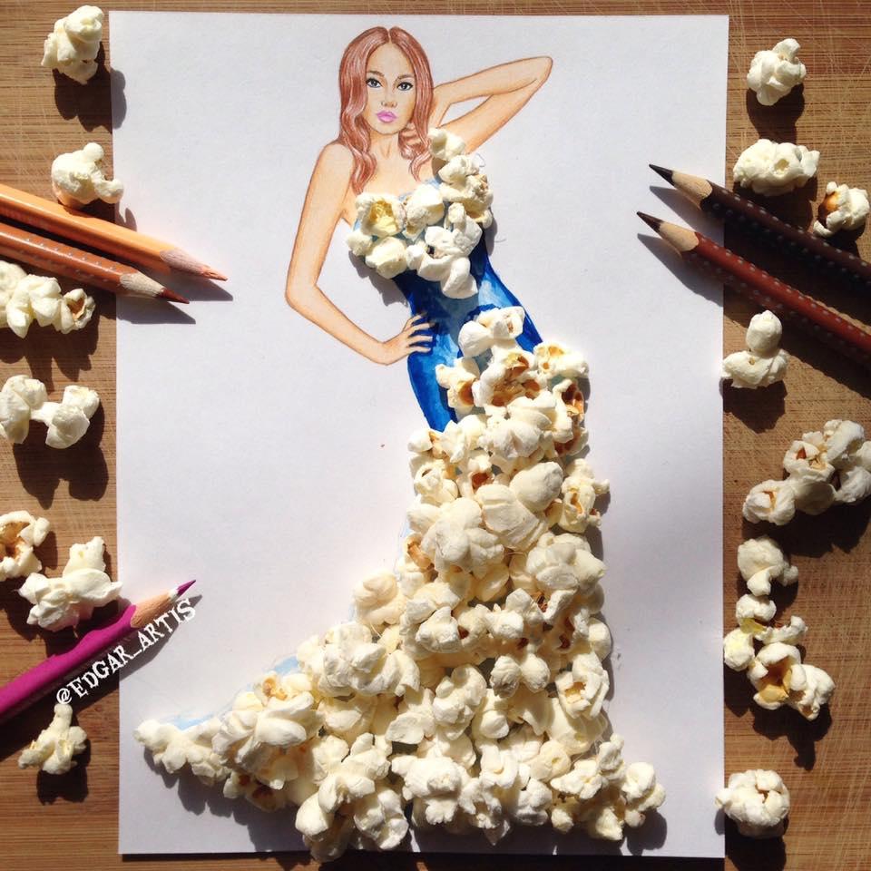 Popcorn gown