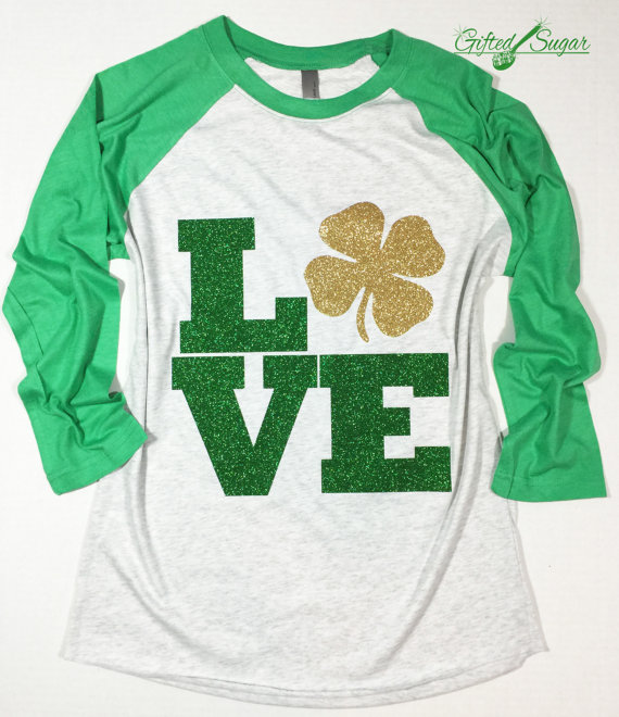 St Patrick's Day Glitter shirt