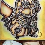 Steampunk Pikachu art