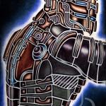 steampunk Cyberpunk Isaac Clarke from Dead Space