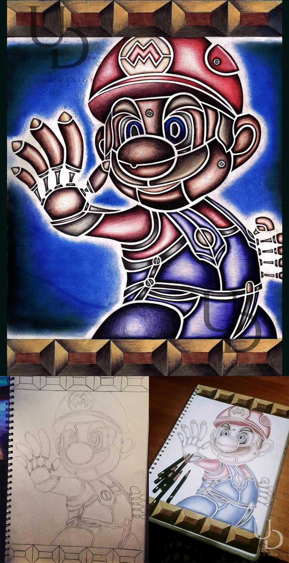 super mario steampunk art