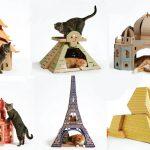 Amazing Cardboard Cat Houses
