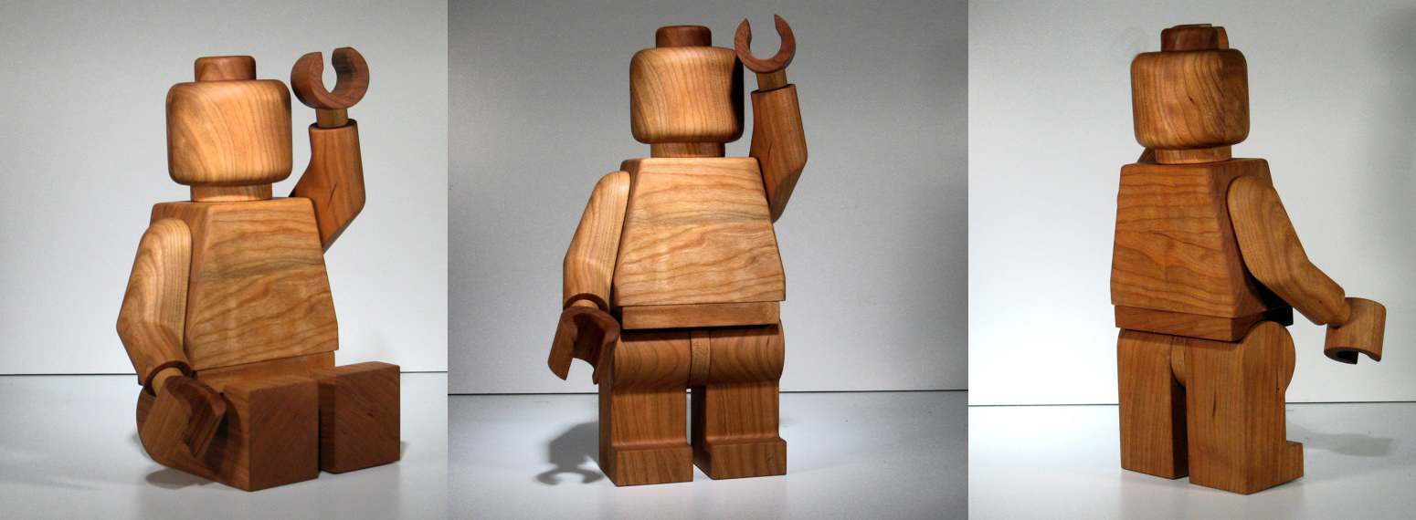Hand Crafted Wooden LEGO Man 2