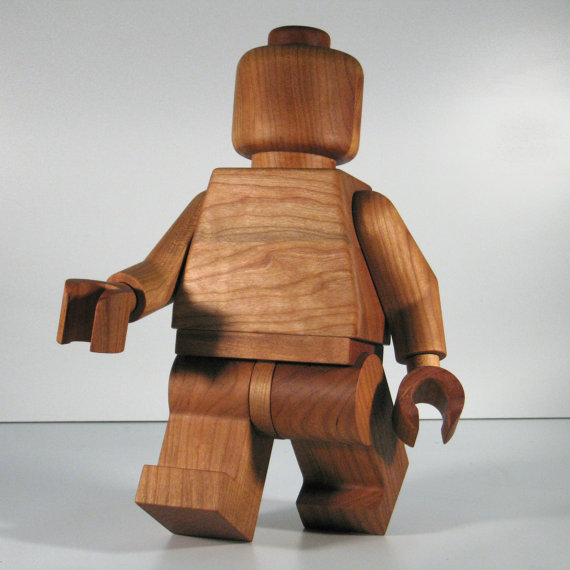 Hand Crafted Wooden LEGO Man
