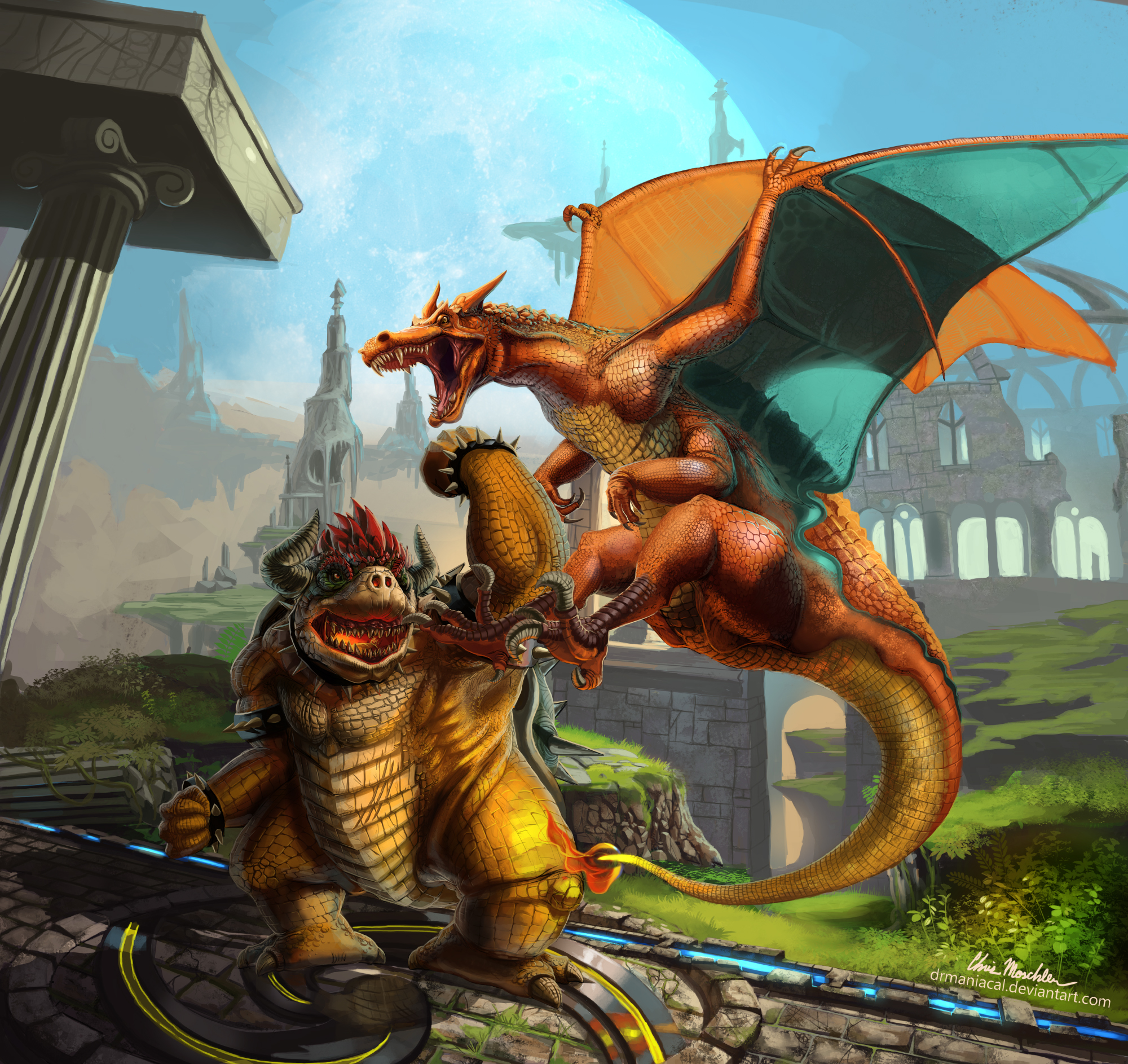 Mind Blowing Bowser Vs. Charizard  Super Smash Bros Artwork