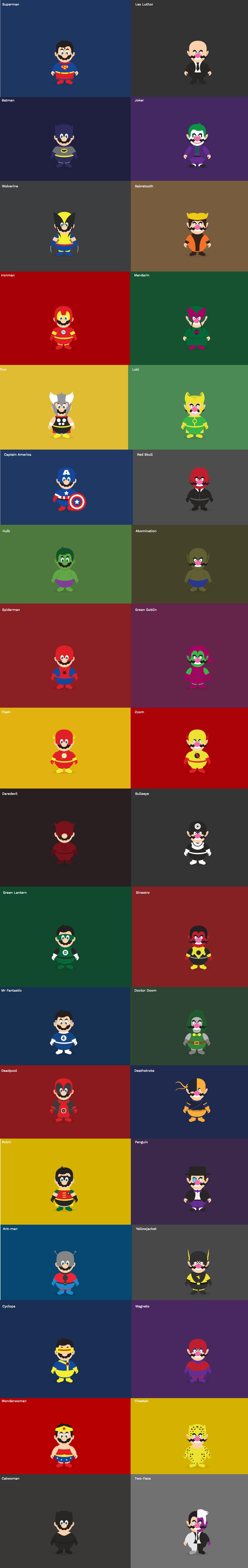 When Super Mario & Super Wario Becomes SuperHeros