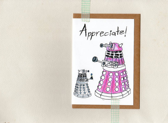 dr who funny mothers day card geek