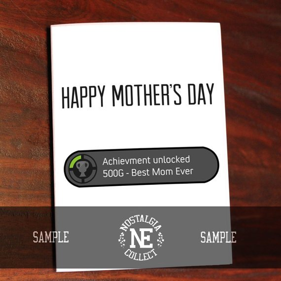 funny gamers mothers day card