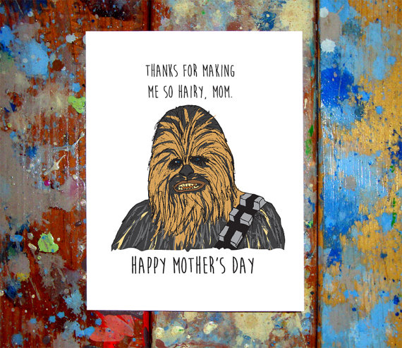 funny star wars mothers day card