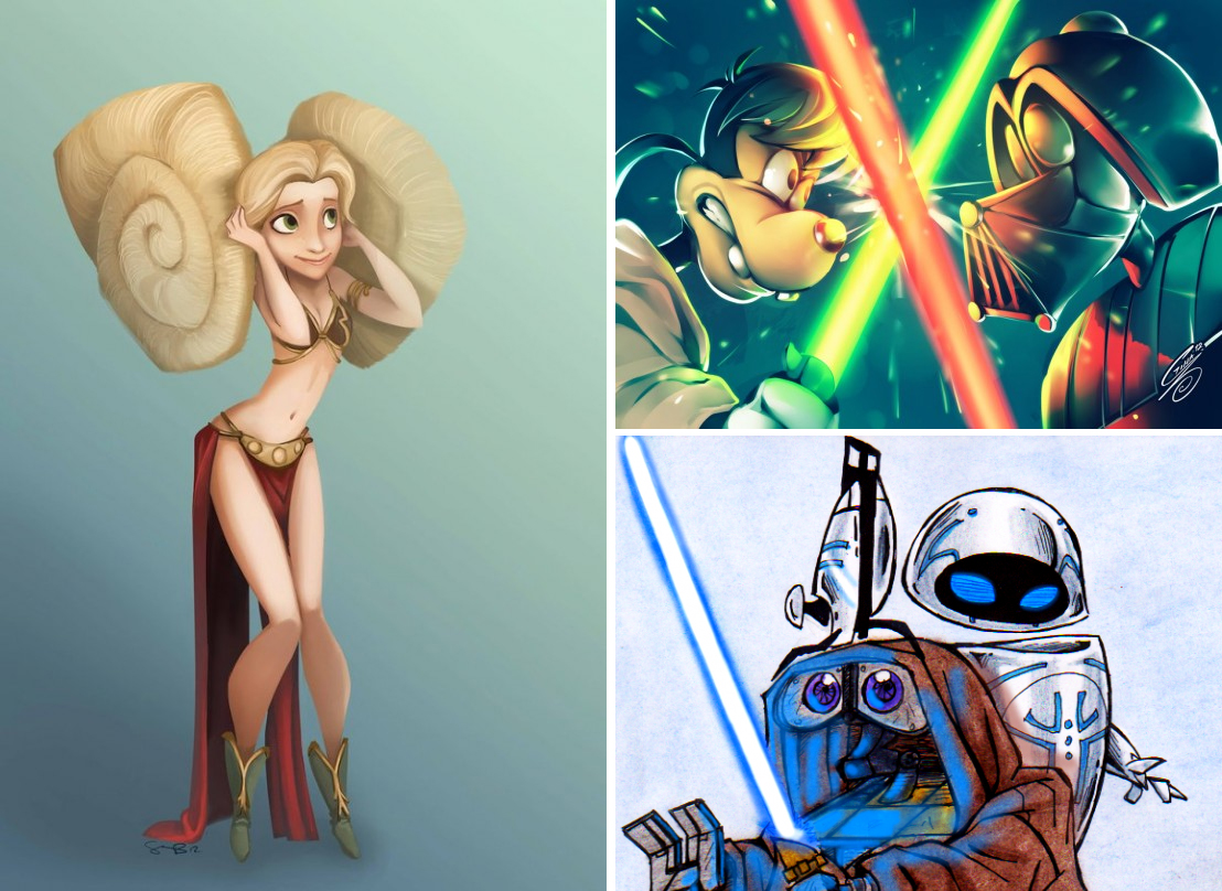 14 Inevitable Disney – Star Wars Mashups