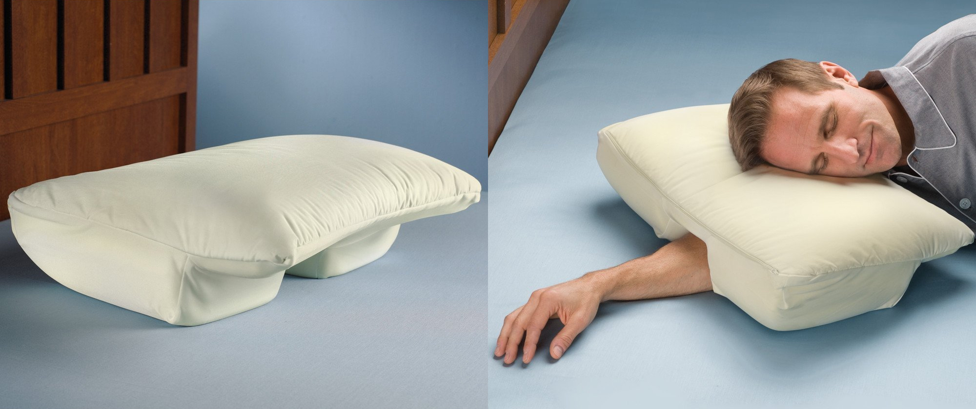 Side Sleepers pillow arm space funny nap gadget