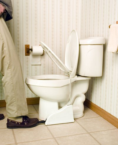 Toilet Seat Pedal lifter gadgets for lazy people