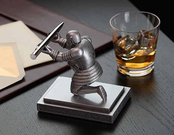 funny fathers day gift idea Executive Knight Pen Holder Additional