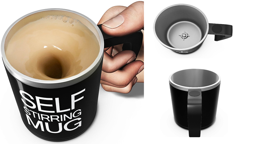 gadgets for lazy people self stirring mug