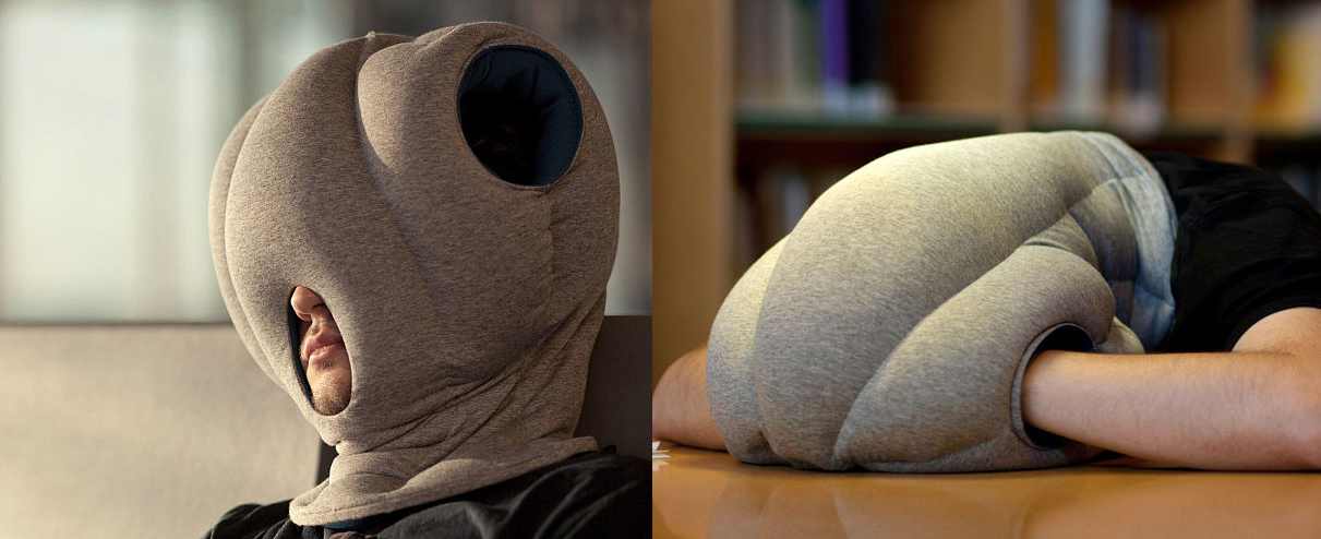 silly napping Ostrich Pillow funny