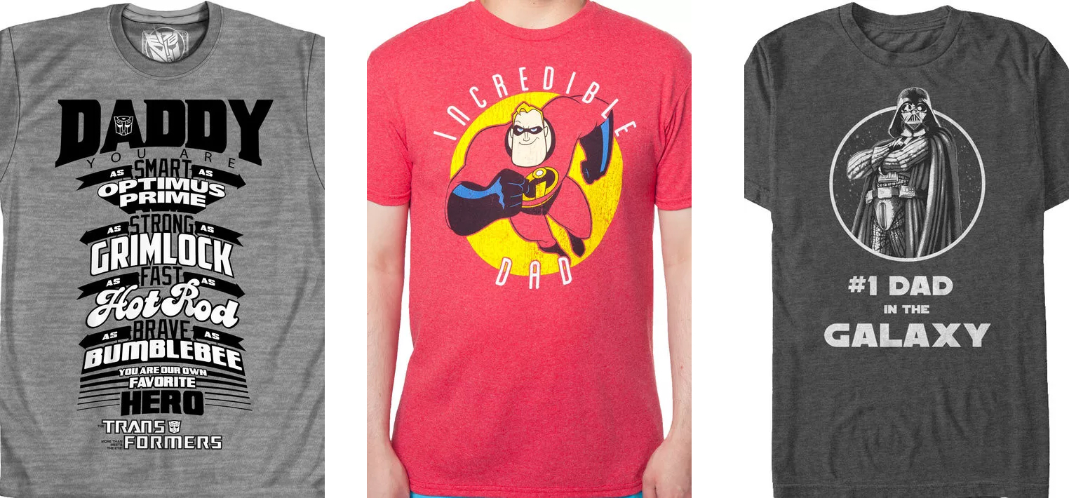 Geeky and Funny Dad T-shirts for fathers day