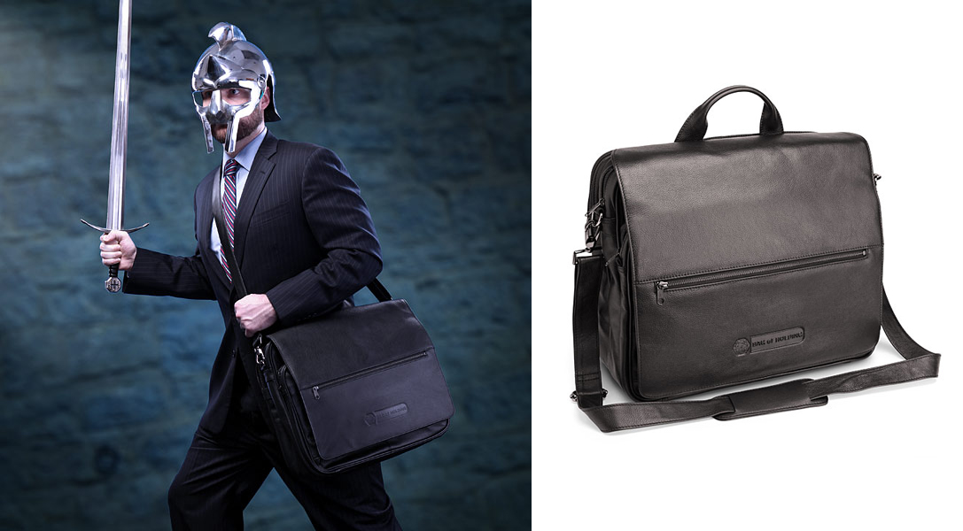 Leather Executive Bag of Holding father day geek gift ideas 2016