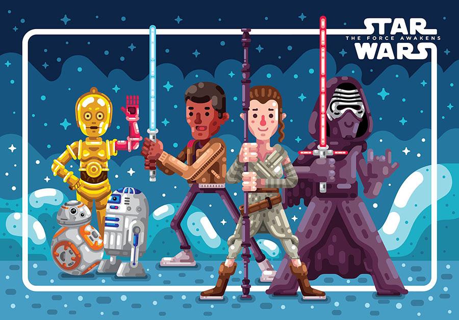 Star Wars Pixels Art by Raul Aguiar