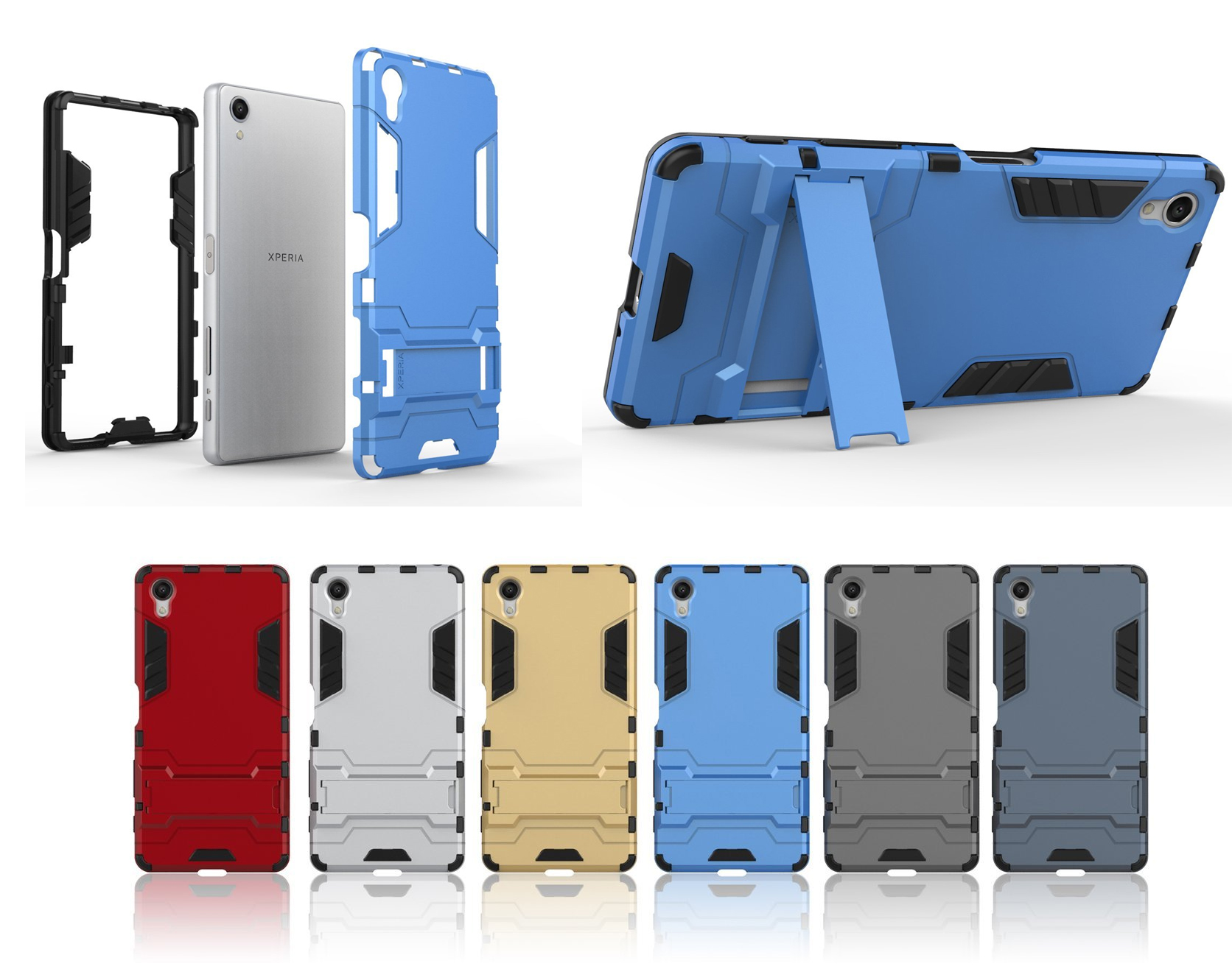 best 2016 Sony Xperia X Kick-Stand Feature Shock Absorption Case