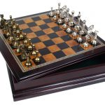 chees set goft idea fathers day 2016 Metal Chess Set With Deluxe Wood Board
