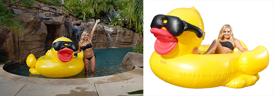 cool Pool Floats Giant Derby Duck Cup Holders and Straps