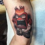 Anger Inside Out Tattoo