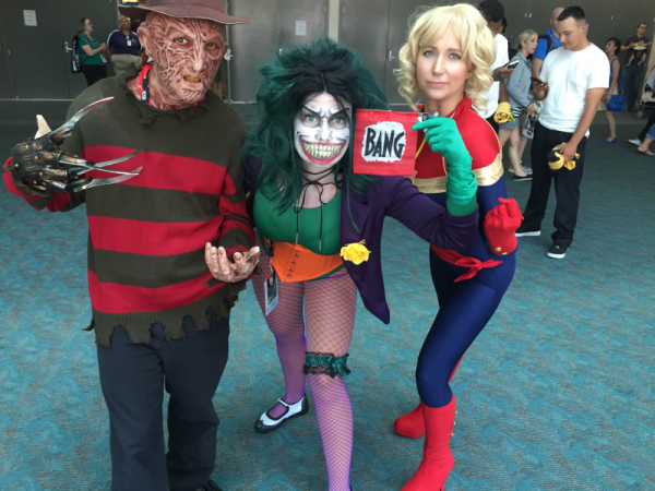 Freddy Krueger, Joker, Captain Marvel