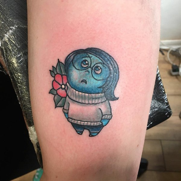 Inside Out Sadness Tattoo