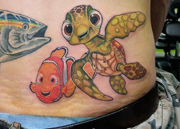 Nemo & Spike Tattoo