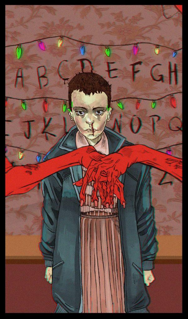 Stranger Things, Eleven, Hands, Letters