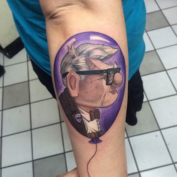 Up Balloon Tattoo